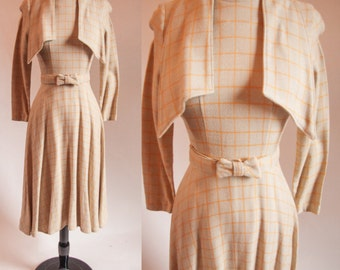 1970s Wool long sleeve dress