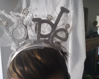 Bride Headband - Bride to Be - Bachelorette Headband - Bride Head Piece