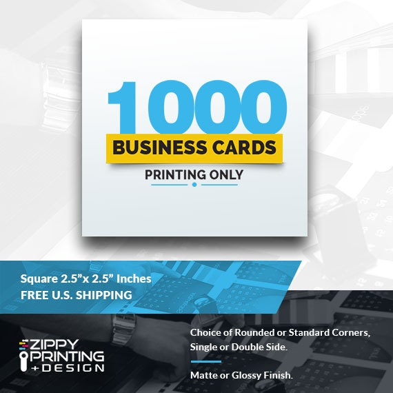 1000 square business cards 25business cards printing for Business cards 1000