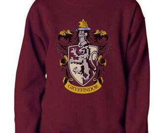 Gryffin #1 Crest printed on Maroon crew neck sweatshirt