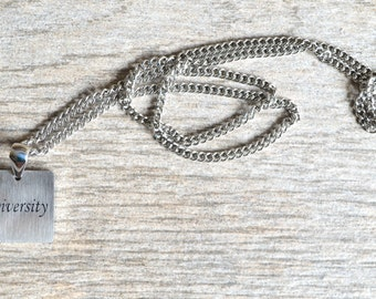 Diversity - Inspirational / Expressional Necklace Pendant Jewelry, Stainless Steel