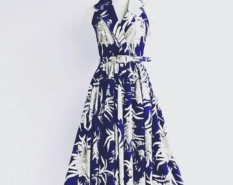 vintage floral full circle dress  - vintage floral dress