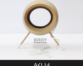 BIRDY bird feeder / house by AKLIH design / WOOD / modern / new / minimalistic / light / biodegradable / natural / young designers