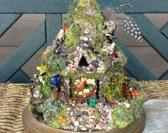 FAIRY COTTAGE - Fairy House - Fairy Habitat - Pixie- Woodland Cottage - Fairy Dwelling -  Miniature - Fantasy - Green Grange - Free S/H