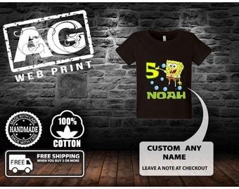 sale sale Spongebob Birthday Shirt..