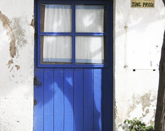 """House of Cadaques Color Photography, """"Cadaques 1"""", Photographic Matte Paper, Windows and Doors, Architecture."""