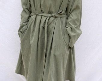Vintage Khaki Trench Coat