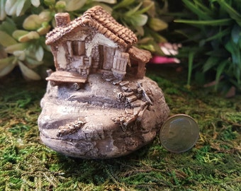 Miniature Teeny Fairy Stone House