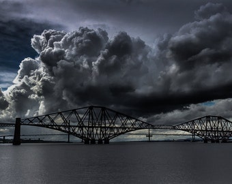 Storm Clouds Over The Forth Bridge