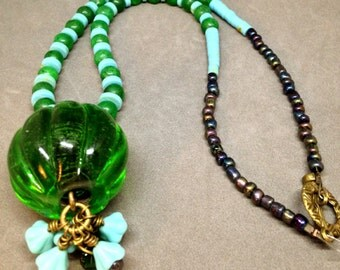 Green and teal necklace