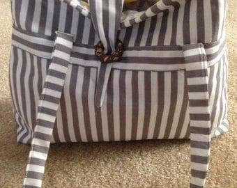 Grey Zebra Tote Bag