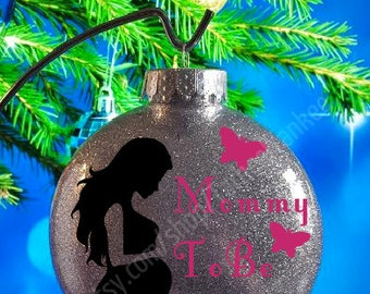 Items similar to EXPECTING Personalized Christmas Ornament ...