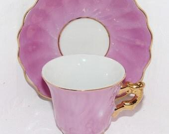 Antique Child's Teacup & Saucer JAPAN Lusterwear - 403