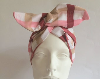 Wired Headband: Vintage Check
