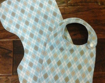 Boutique Baby Bib and Burp Cloth set