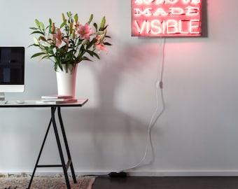 Work - a handmade neon sign