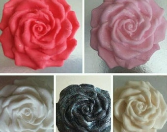 6 Large Edible Roses
