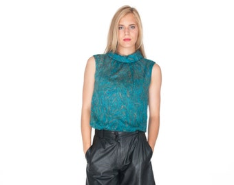 Vintage Turquois Sleevless Top Size M