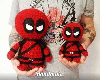 Big Deadpool,action figure,marvelcomics,marveluniverce,amigurumi,toy,souvenir,gift,superhero