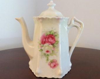 Vintage Floral Coffeepot