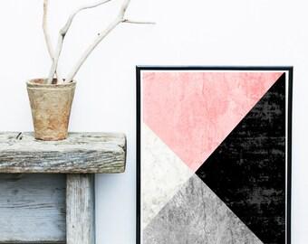 Scandinavian Art, Geometric Print, Abstract Art Print, Geometric Art Print, Giclee print, Wall Art,  Poster,  Abstract Art