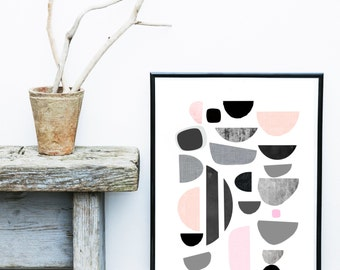 Scandinavian Design, Abstract Art Print, Mid Century Modern,  Giclee print, Modern Wall Art,  Large Print, Abstract Art