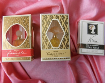3 fragrances from Nina RICCI collection rare, old, authentic