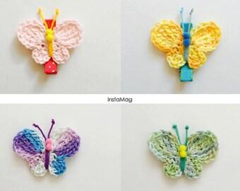 Crochet Butterflies Hairclips