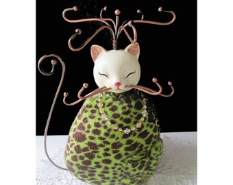 CAT JEWELRY HOLDER * Plush * Unique * Gift For Lady