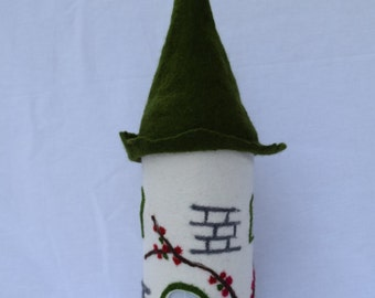Table lamp, Fairy lamp, bedside lamp wet felted