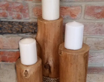 Pine Candle Stands