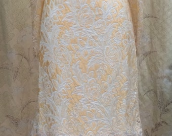 1980s Lace and Chiffon Evening Gown, Size 8