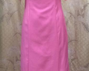 Vintage Pink Maxi Dress, 1960s, Never Worn,Original Tags. Deadstock