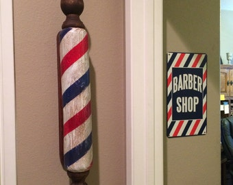 Unique Barber Poles handmade from wood