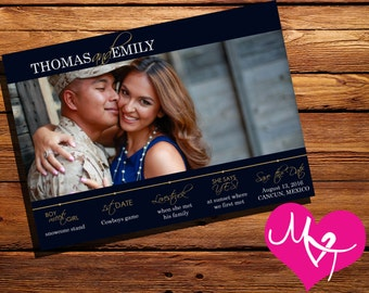 "Personalized, Printable Photo Save the Date || Wedding Invite || ""Timeline"" 