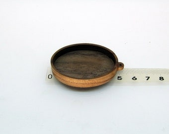 Dark walnut base blank for orgonite necklaces, making pendant, picture frame ,wooden bezels ellipse cup, polished ready do craft Jewelry