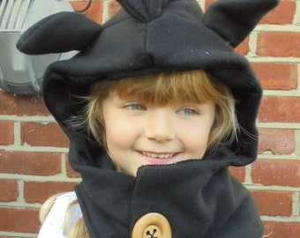 6 months - Adult - Dragon - Toothless Inspired - Cowl Hood -