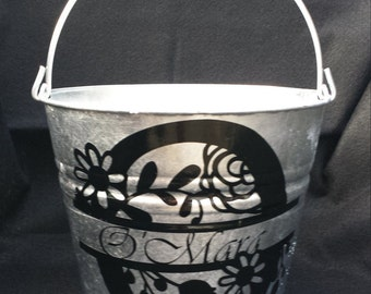 Personalized Flower bucket