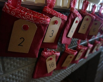 Handcrafted 24 day Christmas Advent Calendar