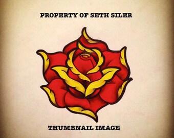 Red Tattoo Rose (JPEG image)