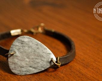 Leather Guitar Pick Bracelet