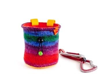 Gift For Climber, Chalkbag. Bouldering Gear. Climbing Gear Chalk Bag, Size L