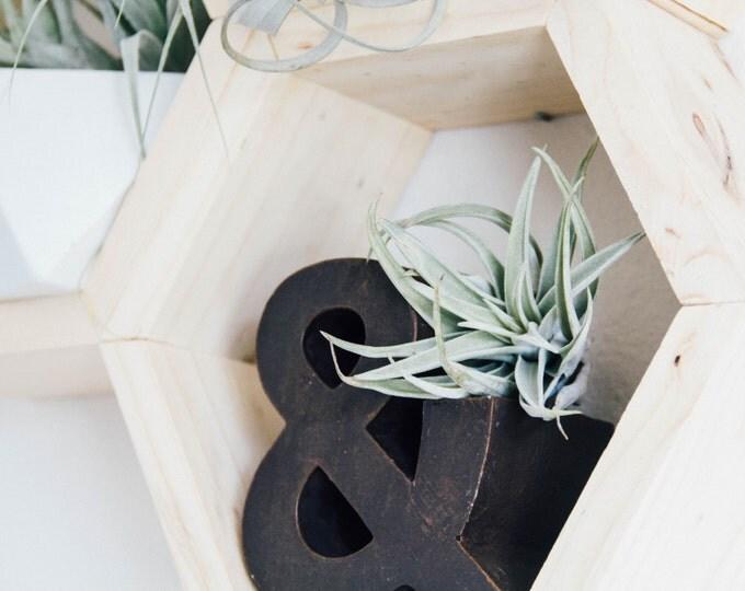 Single Honeycomb Wood Shelf