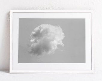 Modern Minimalist Art Print-Cloud Wall Art-Nature Art-INSTANT DOWNLOAD PRINTABLE Art, Minimalist Print, Photography Print, Photo Print 24x36