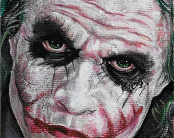 NEW! Reproduction print of The Joker (Heath Ledger)