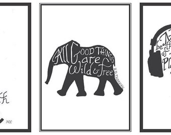Little Encouragers - Black and White Designs #1