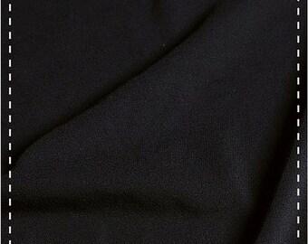 Organic Stretch Jersey Fabric - Black