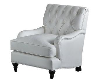 moran armchair pure white