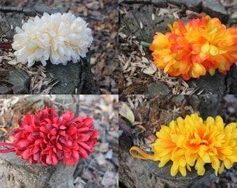 Flowers Puffs Headbands