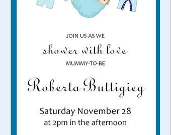 Baby Shower Invitation - JPEG File